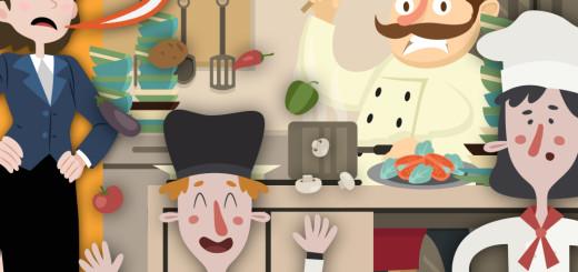 caos na cozinha