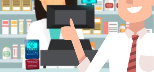 Muitas farmácias na cidade de São Paulo estão usando a tecnologia para conhecer o nível de satisfação do cliente com o atendimento.