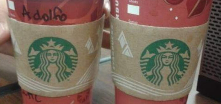 Nome no copo Starbucks